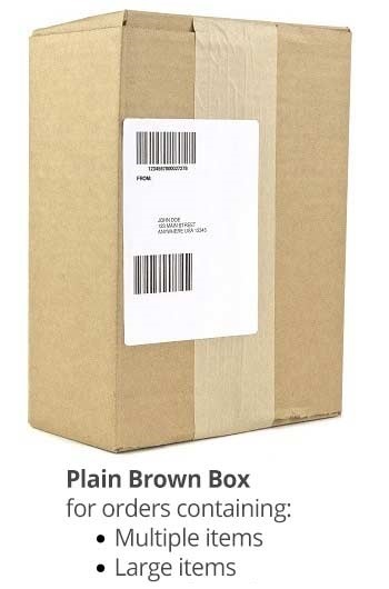 plain brown box package