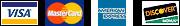 visa mastercard american express and discover logos