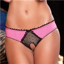 Crotchless Frills Panty at BetterSex.com