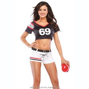 Female Football Player Uniform at BetterSex.com