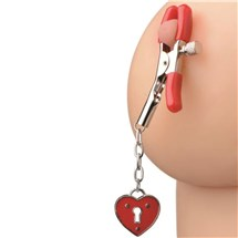 Crimson Tied Heart Nipple Clamp