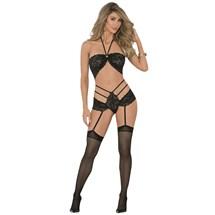 Blonde female modeling sexy lingerie